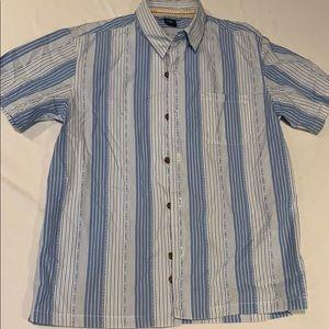 Gap boys shirt sleeve button down shirt Size M